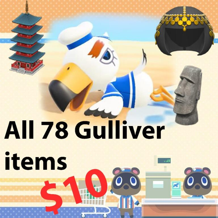 All 78 gulliver items in animal crossing