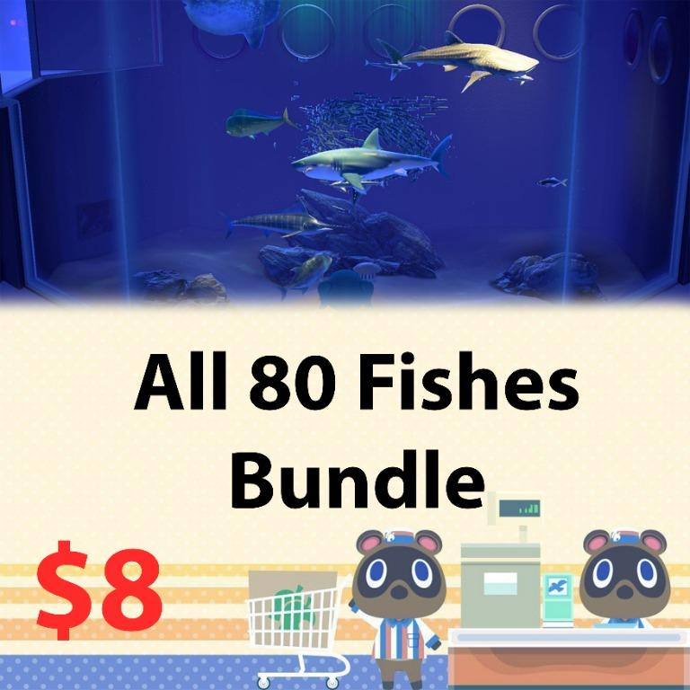 All 80 fishes for museum in animal crossing
