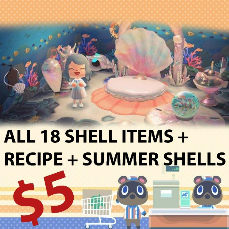 All shell items + recipe + crafting materials