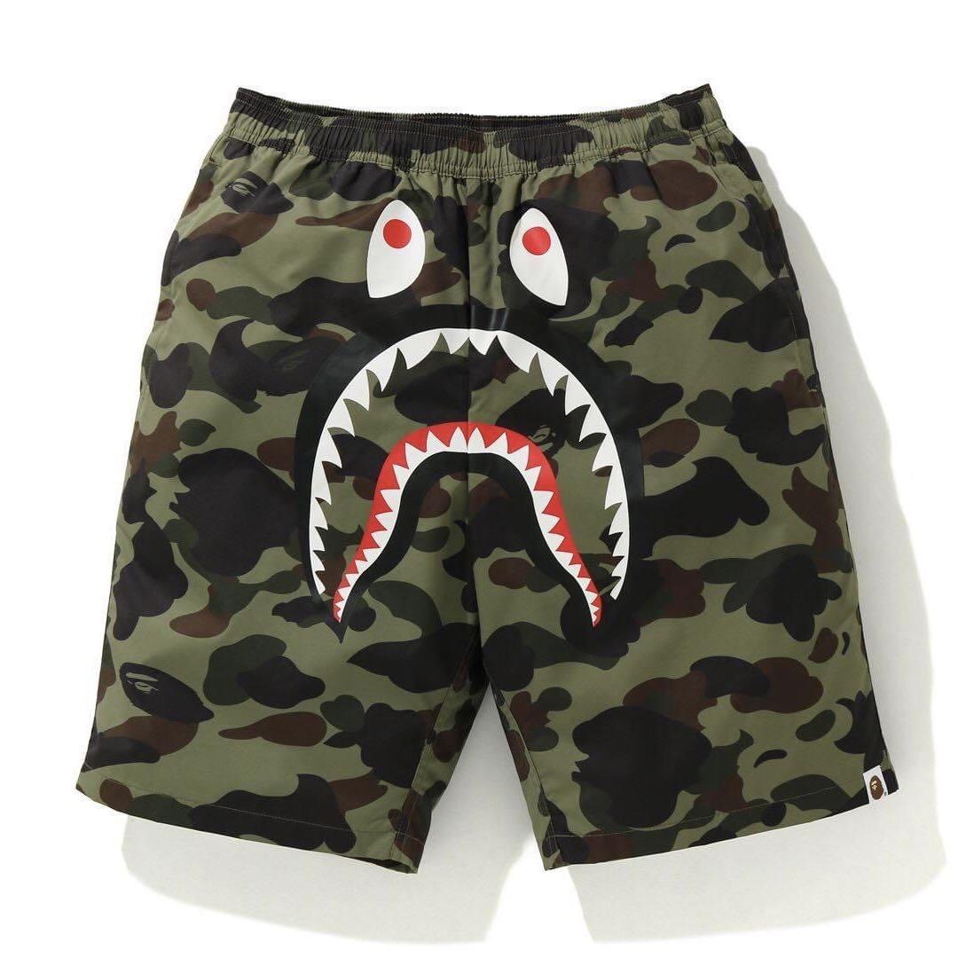Shark Head Shorts Bape Men Camo Beach Short Pants A Bathing Ape Sweatshorts