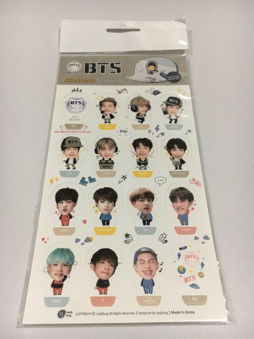 BTS Standing Sticker