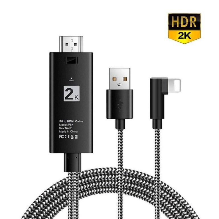 Sync Screen HDMI Connector Compatible with Phone 11//XS//XR//X//8//7//6//5 //Pad Air//Mini//Pro 2020 Latest 2 in 1 Plug and Play Digtal AV Adapter 1080P Digital AV Adapter HDMI Cable Adapter