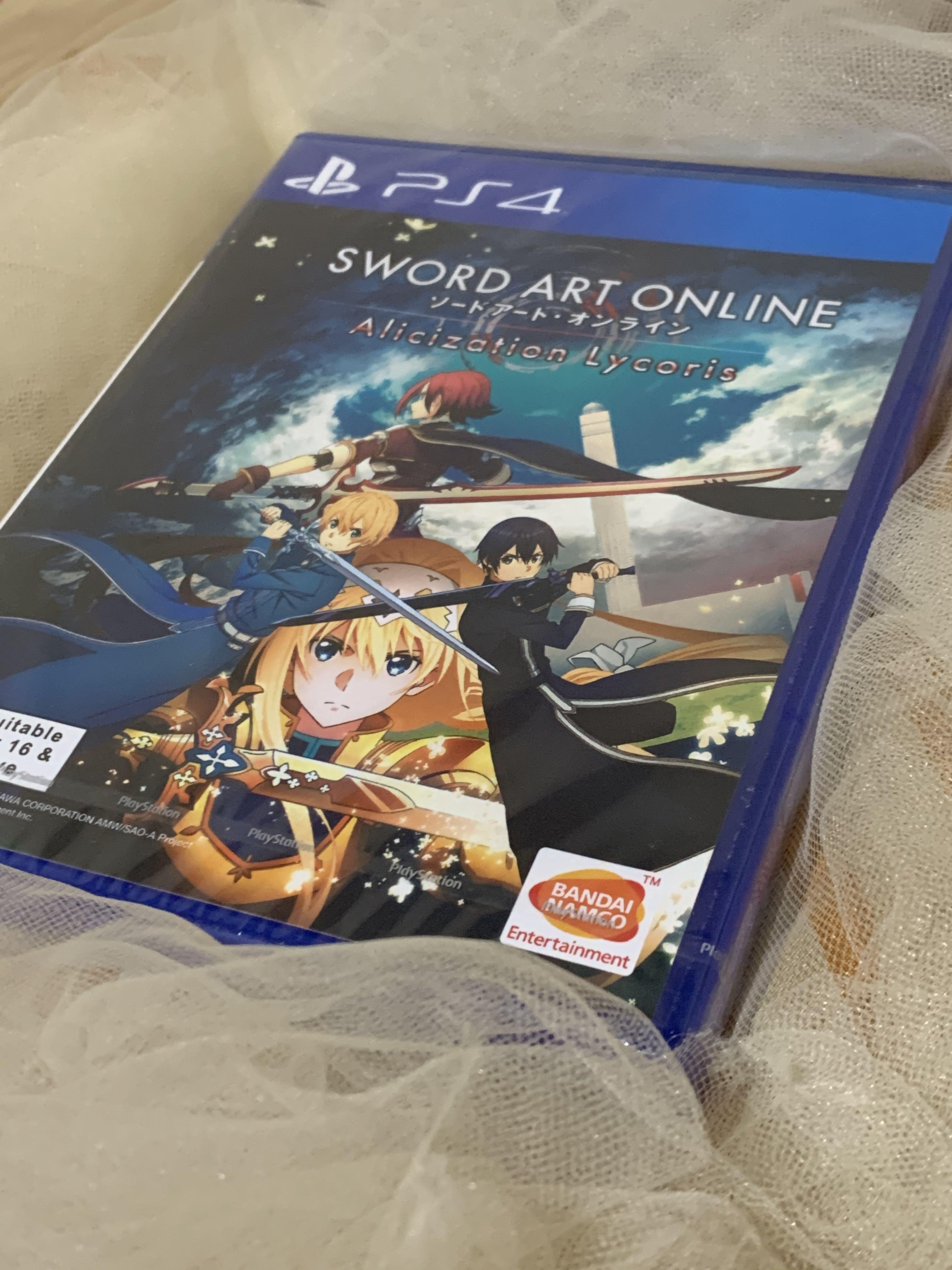 Kaset BD PS4 Sword Art Online (SAO) Alicization Lycoris