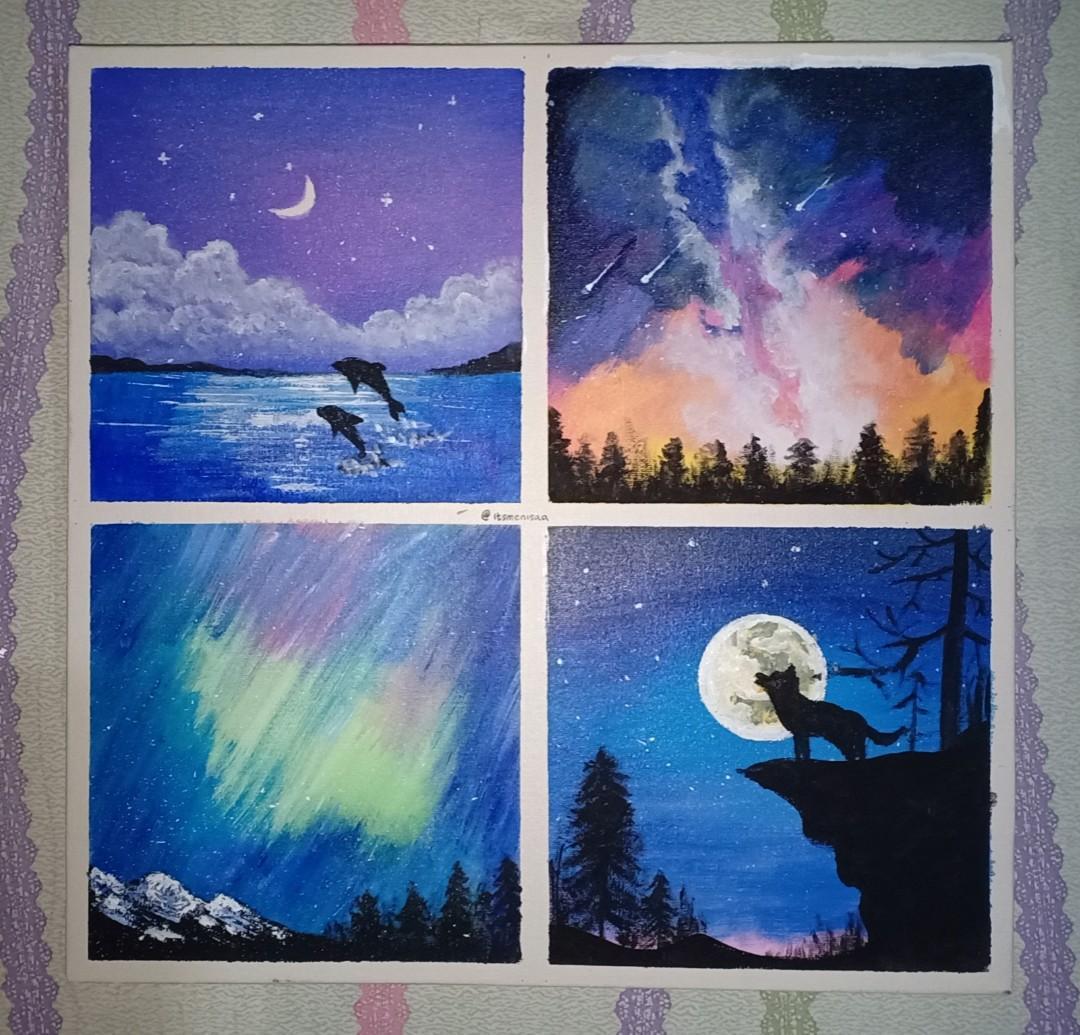 Lukisan Acrylic 4 Magic Night