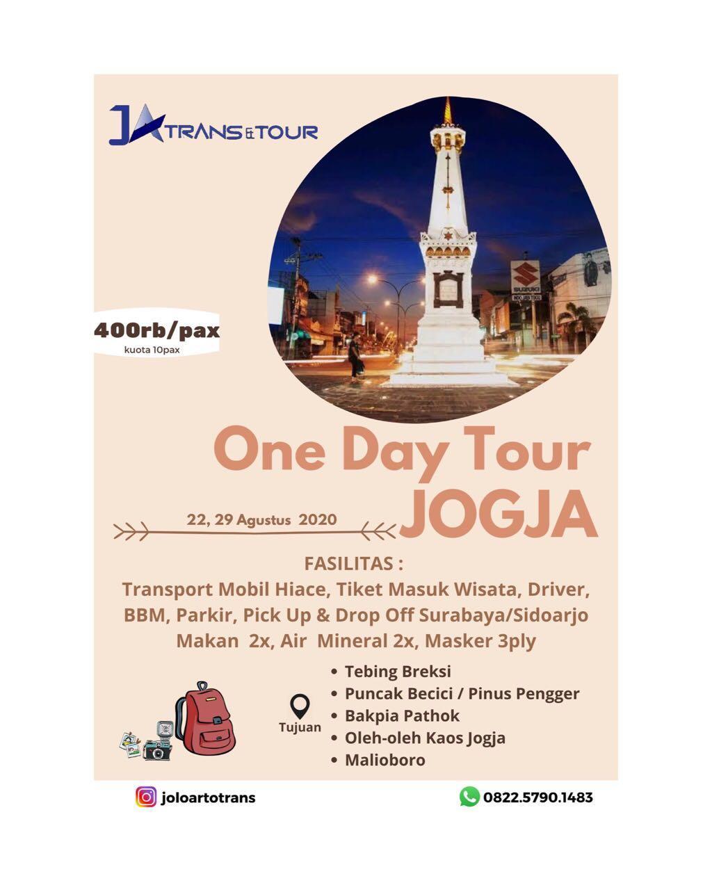 one day trip jogja