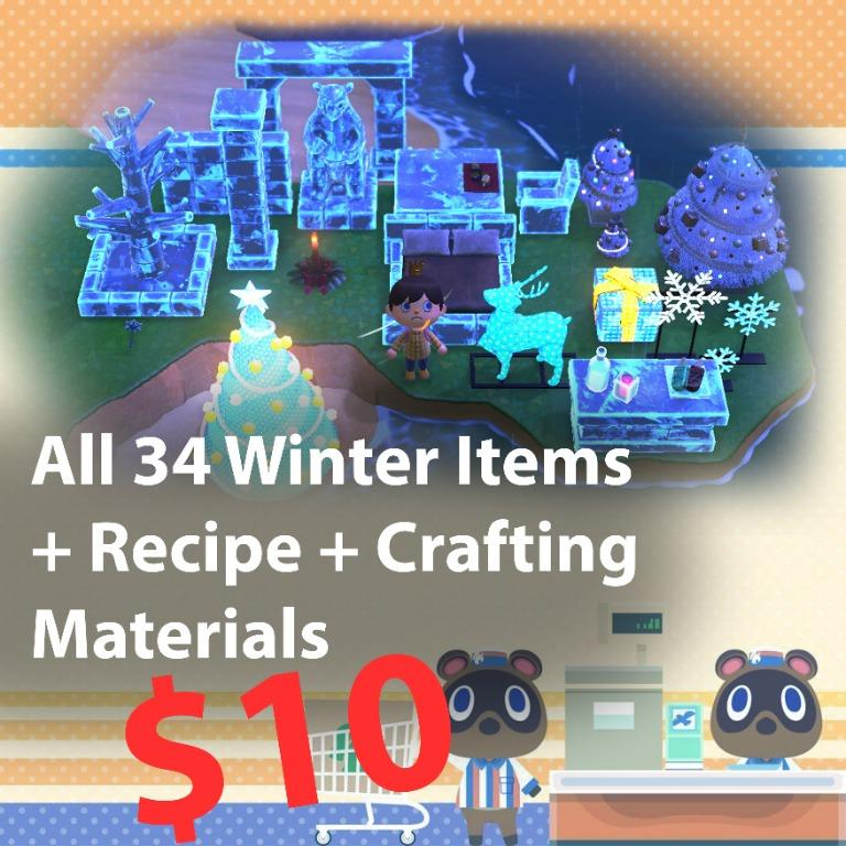 *Winter Bundle* All frozen, illuminated and festive items + recipe + crafting materials