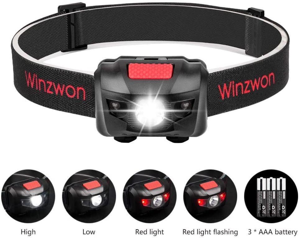 LED Infrared Ray 4 Modes R3+2 Headlight HeadLamp AAA Head Fish Light Lamp Torch