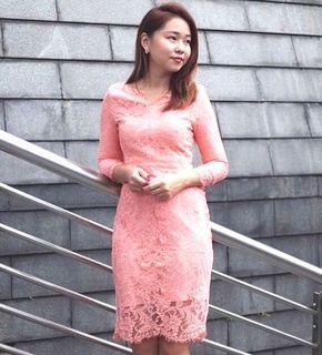 BNWT Ohvola pink lacy dress