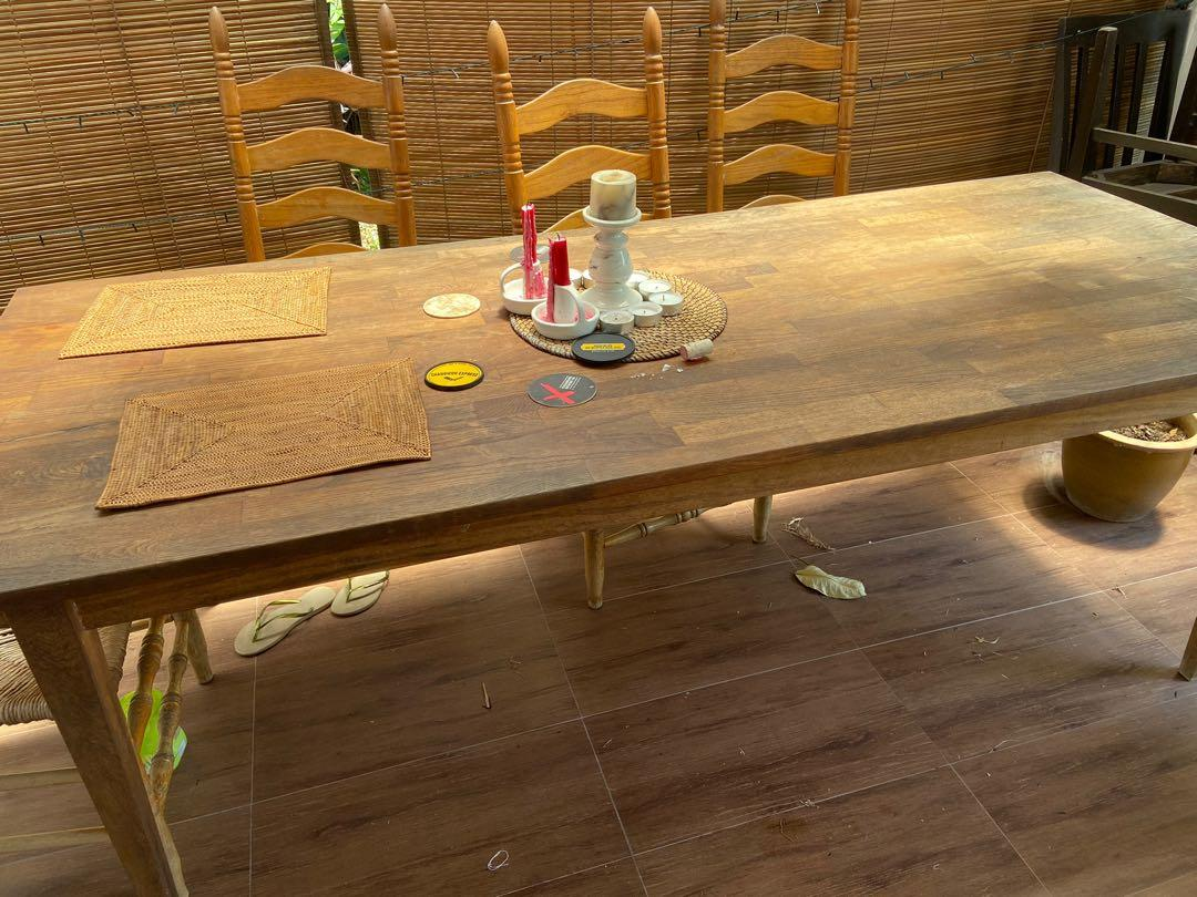 Solid Wood Dining Table 2 2m 7 2 Long 91m 36 Wide Furniture Tables Chairs On Carousell