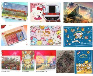 Ezlink Cards - Disney Mickey, Hello Kitty, Gudetama, Marina Bay Sands