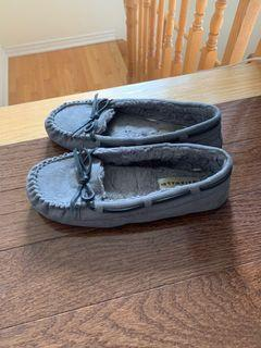 Grey moccasins
