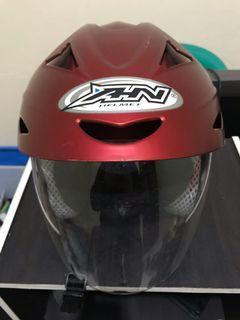 Helm AHN Mulus 95% Murah Warna Merah