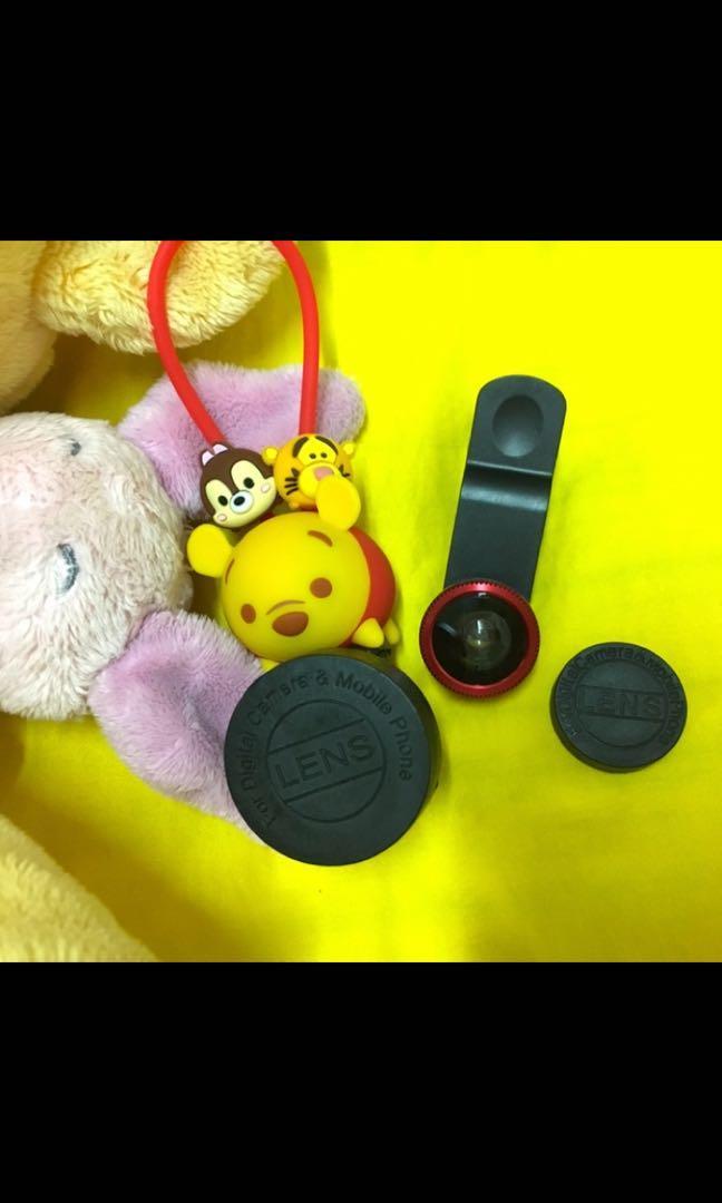 InfoThink TSUM TSUM系列超廣角/魚眼/微距三合一手機鏡頭夾