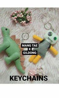 Mang Tae and Gildong Keychains