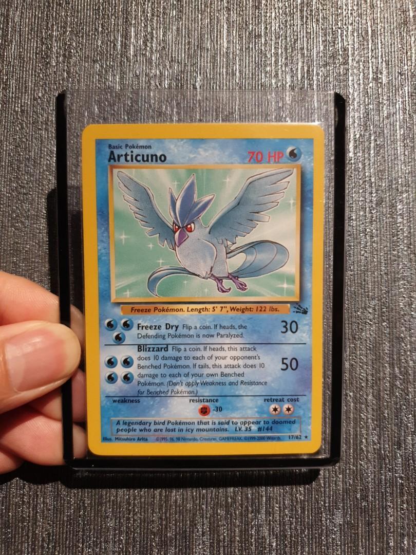 Articuno 17//62 Fossil Pokemon Card LP Condition #