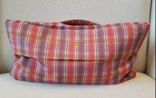 PRADA Oversized Nylon Clutch Bag