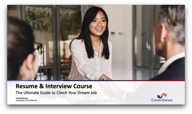 Resume & Interview Digital Course