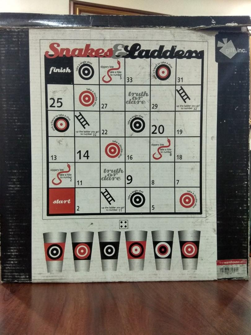 Snakes Ladders Drinking Game Toys Games Others On Carousell