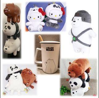 We Bare Bear Mug/ Plush/ Keychain/ Figurine / Pouch
