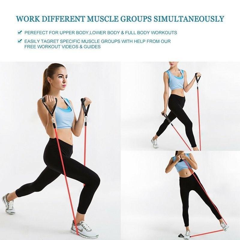 健身拉力繩多功能訓練器橡膠組合輔助拉力繩