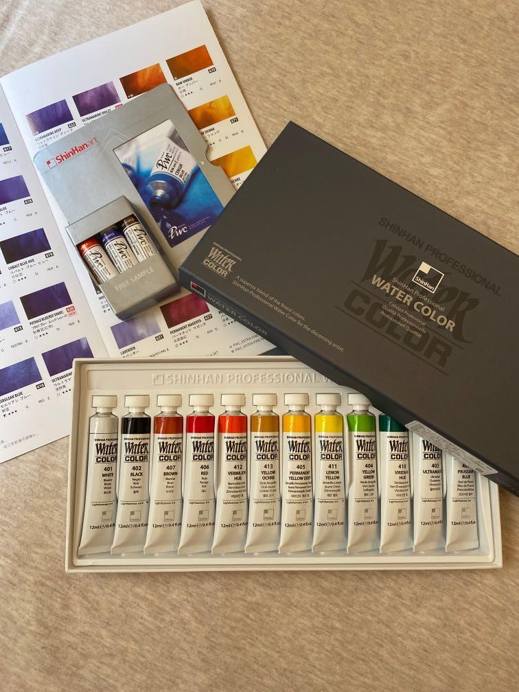 水彩顏料 韓國 SHINHAN新韓 透明水彩 12色盒裝