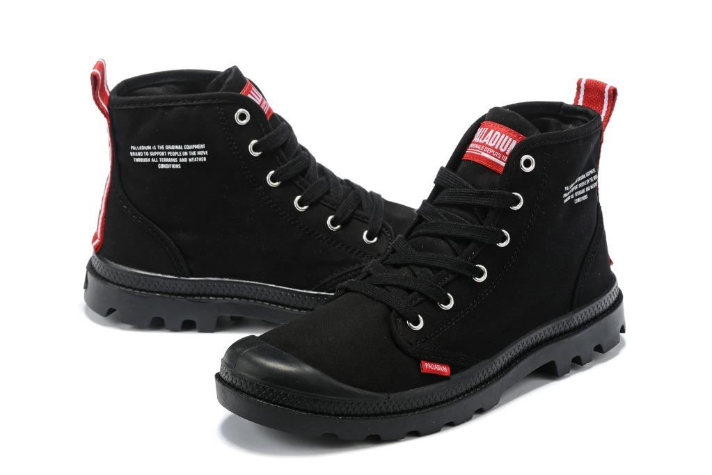 France Palladium Pampa Hi Dare Medium Cut Canvas Boots 76258-008-M Men and Women size Eu 35-45