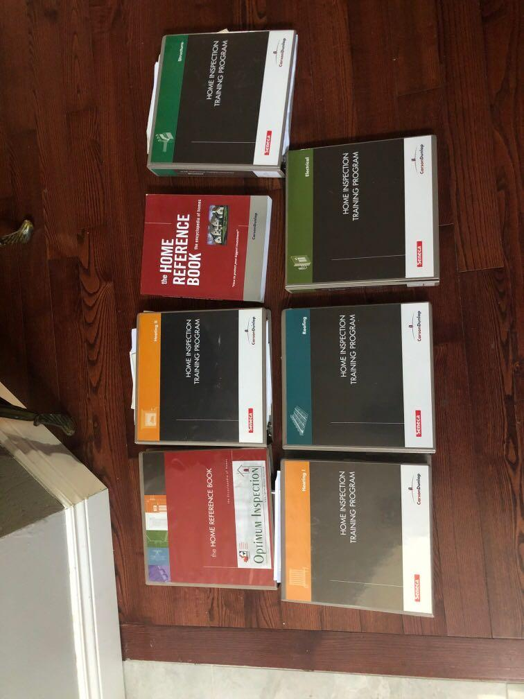 Home inspection training program college textbooks