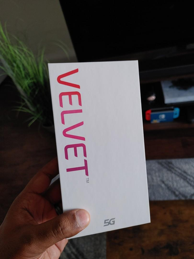 New LG Velvet 5G Bundle with Proof of Purchase