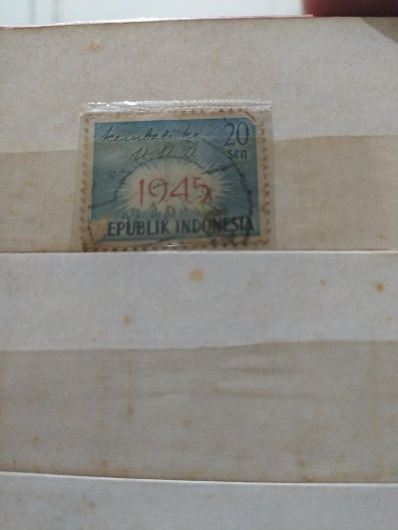 Prangko edisi kembali ke UUD tahun 1945 20sen