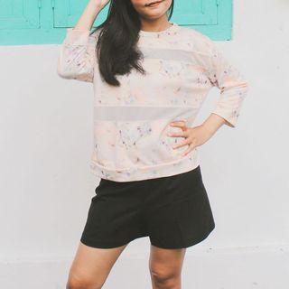 PULL&BEAR floral sweat shirt