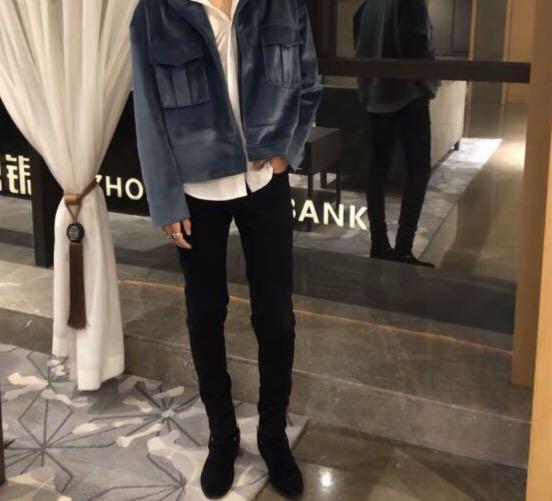 ROOLRREN 20ss 奢潮富貴闊少公子風高街進口絲絨寬鬆短款夾克外套
