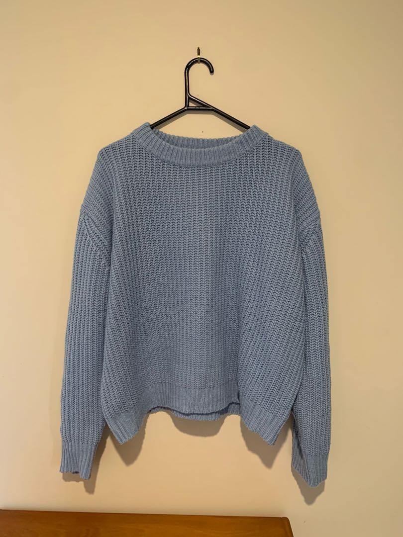 SHOWPO Baby Blue Knit Jumper