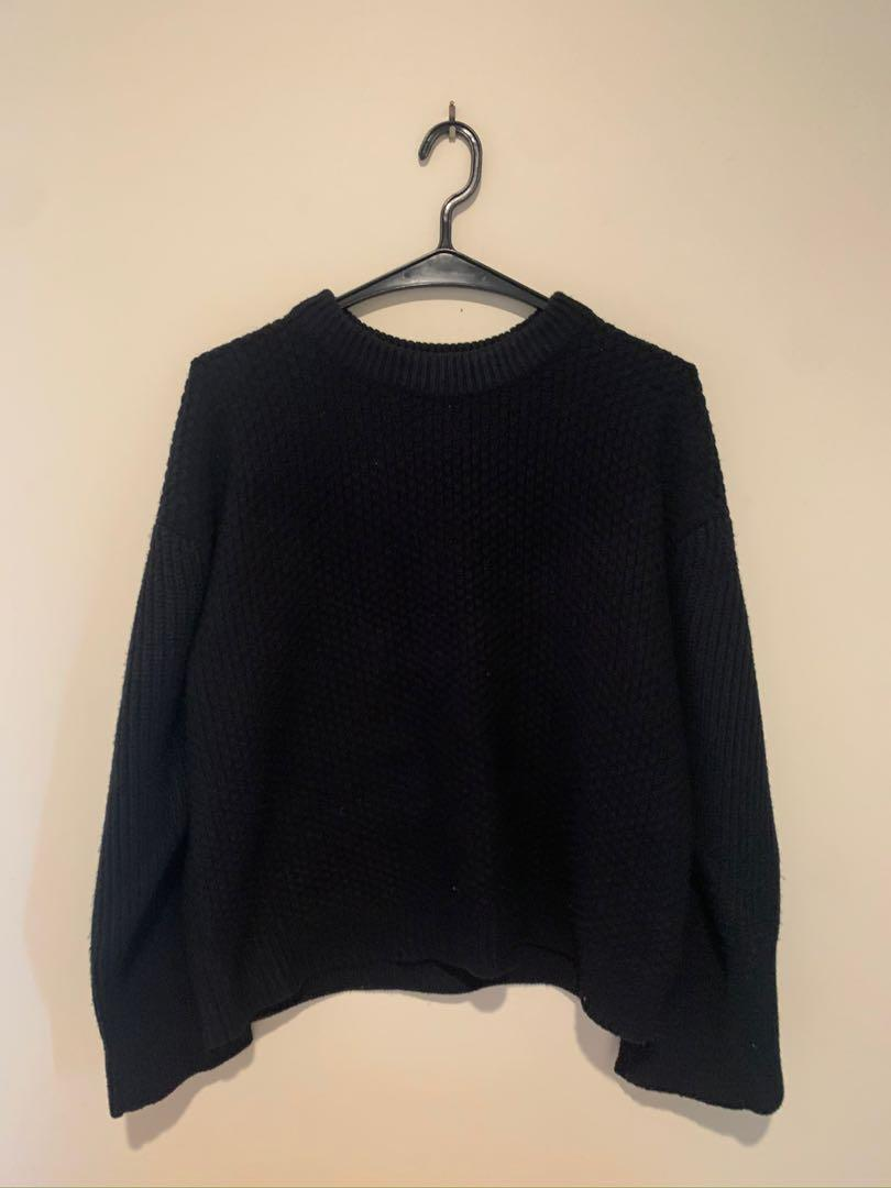 Topshop Black Knitted Jumper