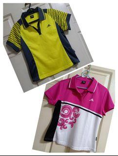Two ladies' dry fit poloshirts