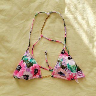 Victoria's Secret Swim gold chain bikini top