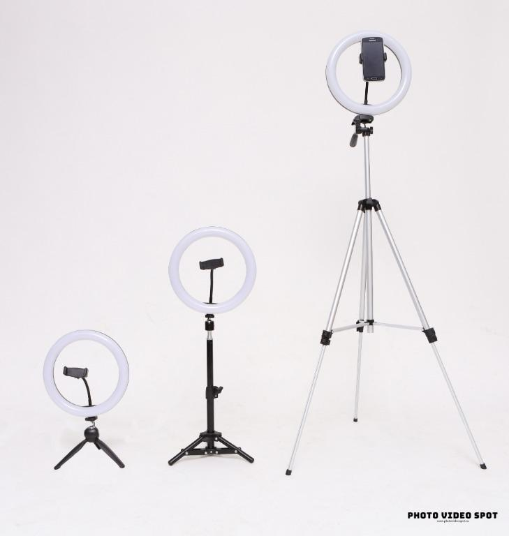 """10"""" LED Diva Ring Light Kits (three versions to choose from)"""
