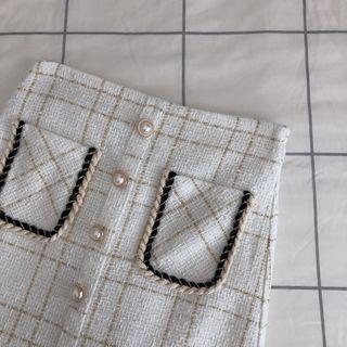 90s chanel inspired skirt