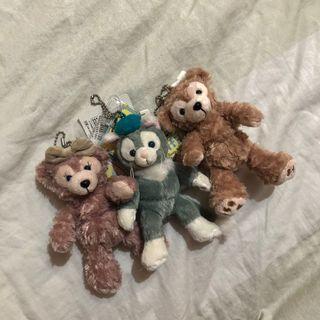 達菲、雪莉玫、畫家貓(一組三隻)