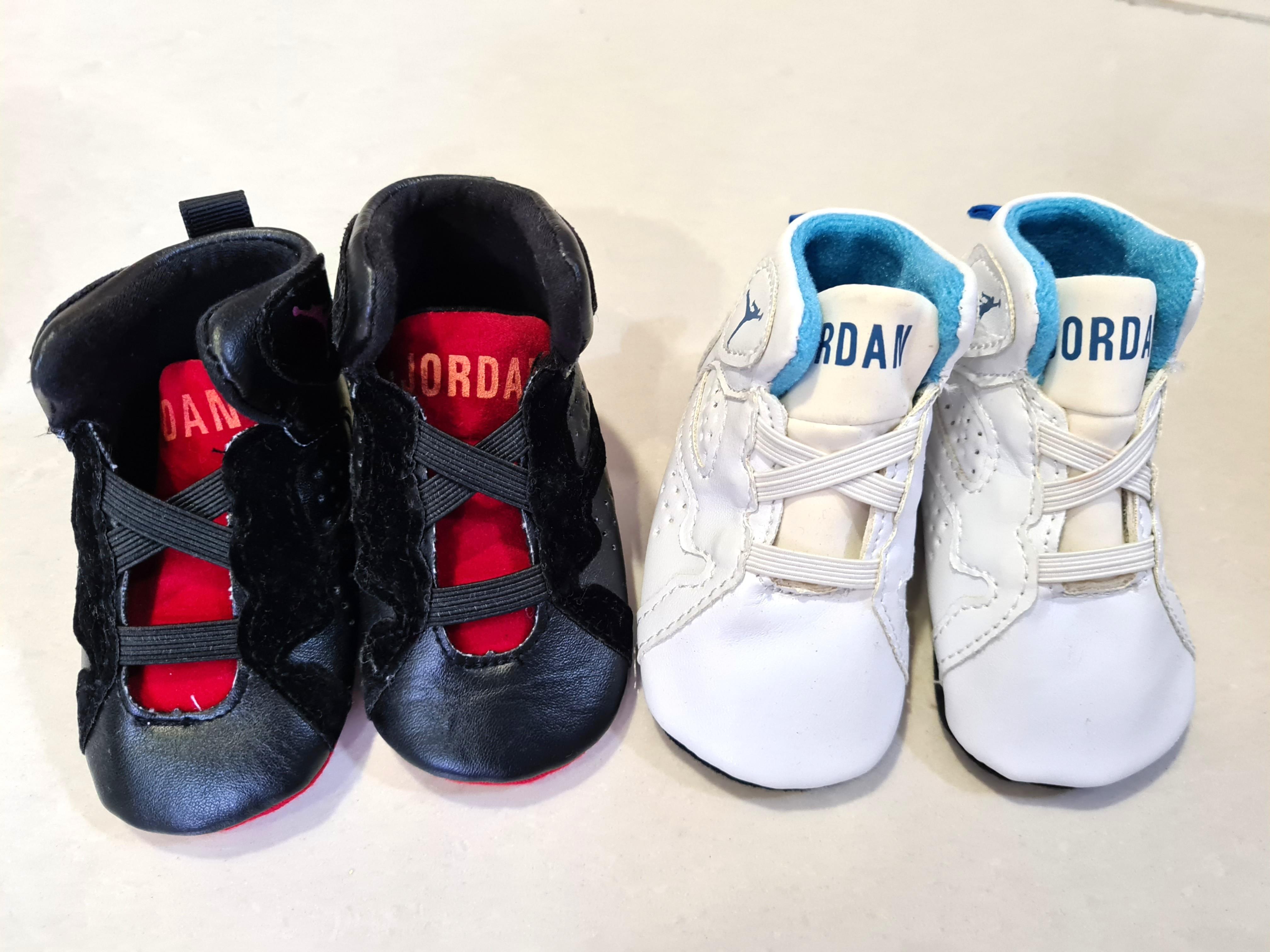 2 pairs Baby Jordan Shoes Newborn