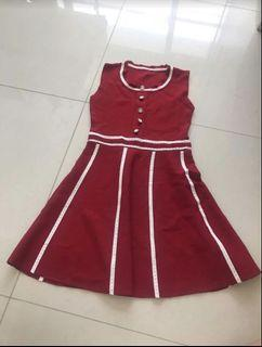 BN anticlockwise Red knit Dress