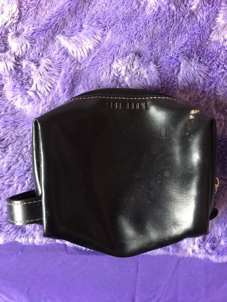 Bobbi brown black makeup case bag