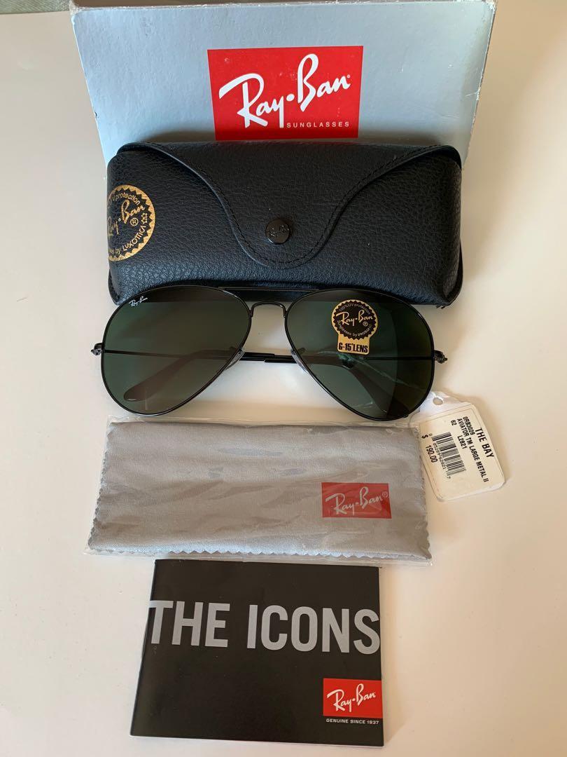 BRAND NEW- Iconic Ray Ban Aviator Sunglasses