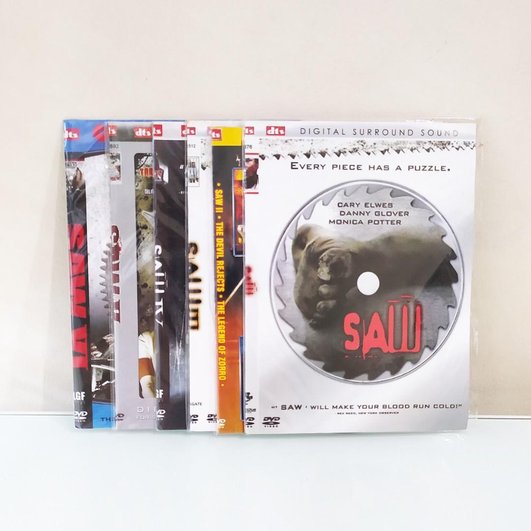 Dvd Film Thriller Saw 1-6