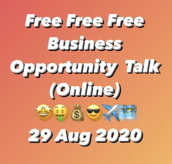 Free - Business Opportunity Talk