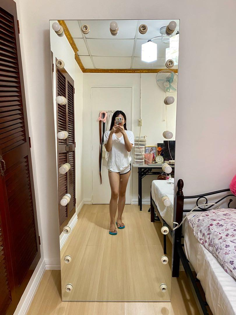 Full Body Frameless Vanity Mirror Home Furniture Furniture Fixtures Others On Carousell