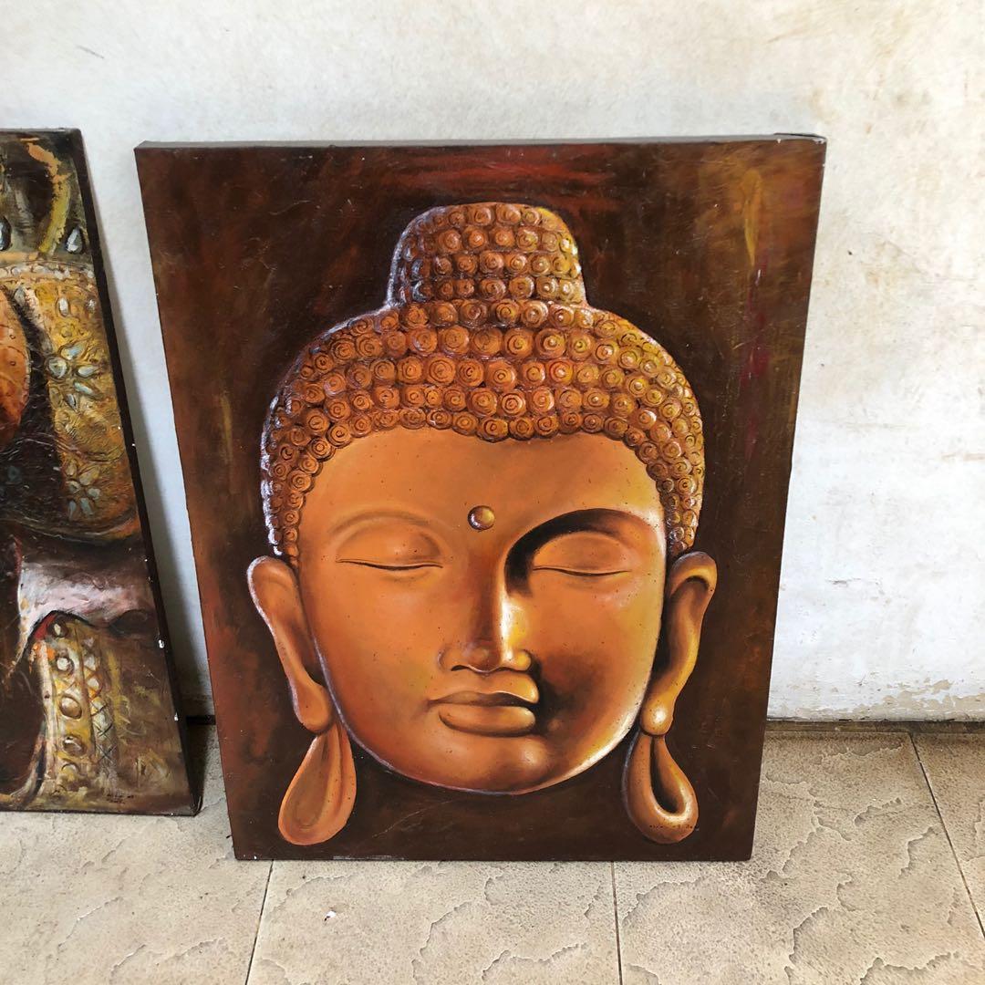 Lukisan patung Budha