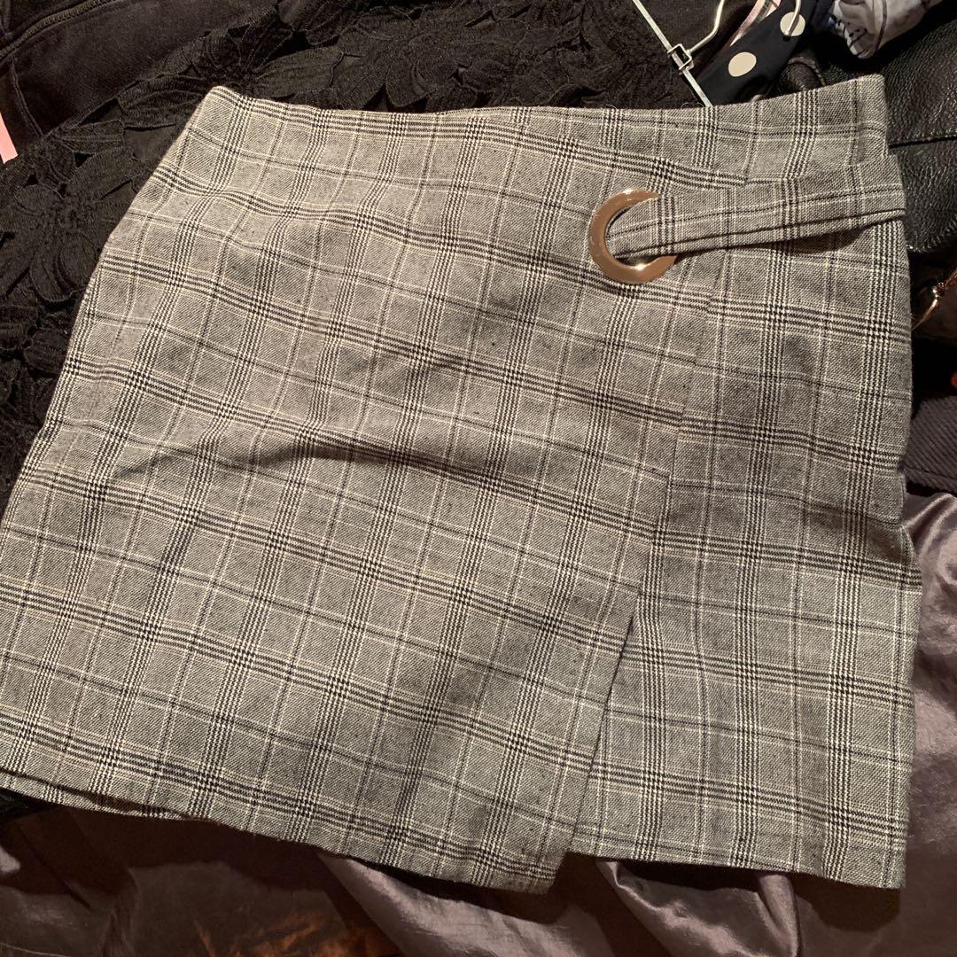 Mirrou Plaid Skirt