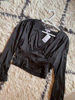 NEW • Mendocino black silk blouse