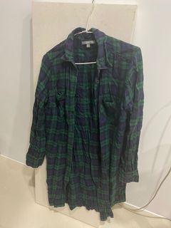 Uniqlo 格紋襯衫裙 #單身狗