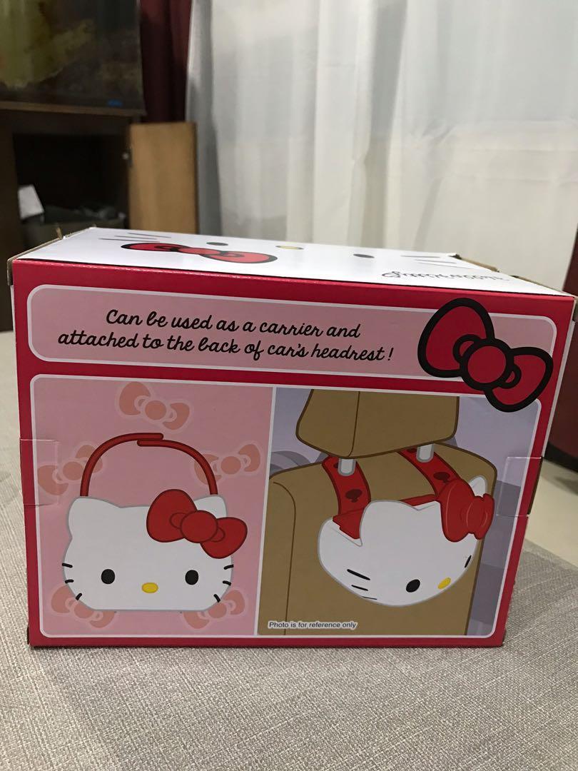 全新未拆封❤️日本帶回!正版!原價近400$超可愛Hello Kitty 凱蒂貓椅背置物籃~有杯架可以放飲料哦❤️